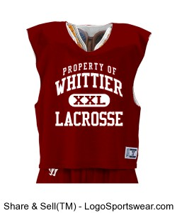 Mens Collegiate-Cut Reversible Practice Lacrosse Jersey Design Zoom